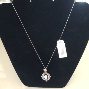 Jewelry - Sterling Silver/Mother of Pearl/Onyx Necklace